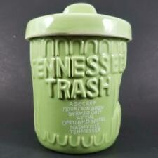 Tennessee Trash Opryland Hotel Drink Cup with Lid Green Garbage Can Tiki Mug