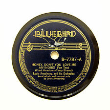 """LOUIS ARMSTONG ORCHESTRA """"Honey, Don't You Love Me Anymore?"""" (EE+) BLUEBIRD [78]"""