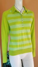 Nike Golf Pullover Sweater Women's Size M Green 100% Wool EUC
