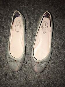 Ted Baker Silver Sparkle Ballet Shoes 3