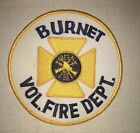 Burnet Volunteer Fire Dept Patch - Texas - Vintage