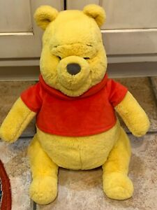 "DISNEY PARKS STORE WINNIE THE POOH 14"" BEAR STUFFED ANIMAL NEW NWOT"