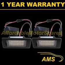 2X FOR VOLKSWAGEN TOURAN TOUAREG SHARAN 2011 On 24 WHITE LED NUMBER PLATE LAMPS