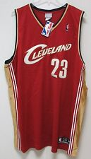 NWT NBA Reebok Authentic Jersey - LeBron James Cleveland Cavaliers size 56 Red