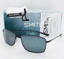 NEW Smith Turner sunglasses Matte Black Platinum Grey wire rectangle $199 msrp