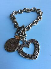 1928 Company Gold Tone World of Peace Heart Charm Toggle Bracelet
