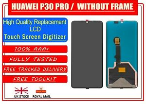 For Huawei P30 Pro Without Frame VOG-L09 LCD Display Touch Screen Digitiser BLK