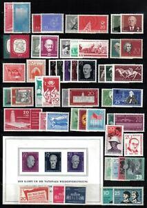 DDR 1958 ** Jahrgang komplett mit Blocks und Kleinbogen soweit erschienen