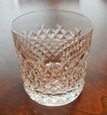 """WATERFORD CRYSTAL """"ALANA"""" PATTERN OLD FASHIONED GLASS (S) 3 1/4"""" EXCELLENT"""