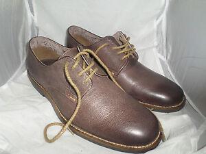 Moshulu Yorker Brown Leather Lace Shoe UK 8 EU 42 JS11 49 SALEw