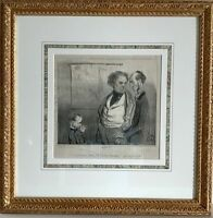 Framed Original French Lithograph, Honore Daumier