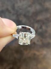 STERLING SILVER 4.25ct YELLOW MOISSANITE CZ BEAUTIFUL RING #OK