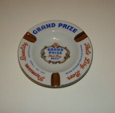 Vintage Grand Prize Beer Porcelain Ceramic Ashtray Advertising