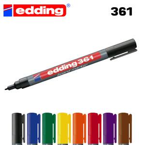 Edding 361 Fine Tip Whiteboard Dry Wipe Marker Pens - Bullet Tip - Any Colour