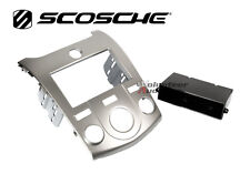 Car Radio Stereo CD Player Dash Install Mounting Trim Bezel Panel Kit Silver