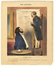 Karikatur/Satire: Un Journal en 1843.- 2 Lithographien von J. Platier, um 1840