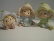 Vintage Elves, Pixies, Fairies, set of Three