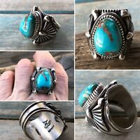 Delbert Gordon Royston Turquoise & Sterling Silver Ring ~Signed~