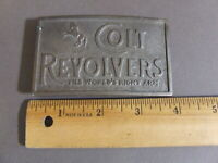 VINTAGE COLT REVOLVERS THE WORLD'S RIGHT ARM BELT BUCKLE