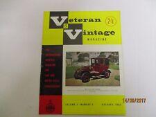 October 1962, VETERAN & VINTAGE, Unic Taxicab, Woolf Barnato, Graham Walker.