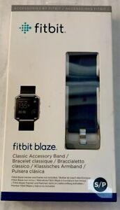 Fitbit Blaze Classic Accessory Band Silicone Strap Blue Size Small