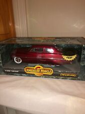 """1/18 ERTL AMERICAN MUSCLE 1949 MERCURY """"LEAD SLED"""" RED EXCLUSIVE COLOR"""