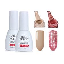 2Bottles 10ml Born Pretty Soak Off UV Gel Polish Glitter  Gel Varnish 03&09