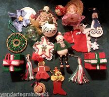 18 Crafty Christmas Ornaments Ceramic Cross Stich Yarn Clay & More