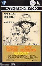 Missouri (1976) VHS 1a Ed. WB -  M. Brando J. Nicholson
