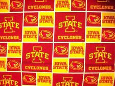 IOWA STATE COLLEGE CYCLONES CHECKED COTTON FABRIC BTHY