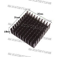 1pcs 35X35X10mm HEAT SINK ALUMINUM for LED CHIP CPU VIDEO DISSIPATORE ALLUMINIO