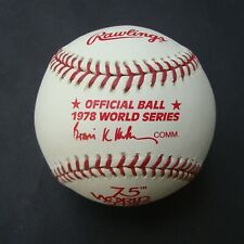 1978 Official Rawlings  World Series Baseball New York Yankees  L A Dodgers