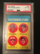 1963 Topps Pete Rose RC Rookie Psa 6 #537