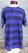 Disney Originals Blue Purple Striped Mickey Mouse Shirt Top Women's Size S/M