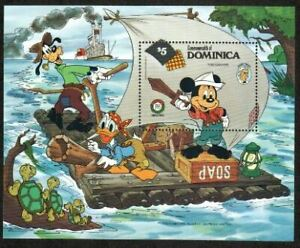 Dominica Stamp - 85 Christmas,  Mickey Mouse as Tom Sawyer Stamp - NH