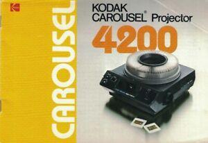ORIGINAL KODAK CAROUSEL PROJECTOR 4200 INSTRUCTION MANUAL (SP1028)