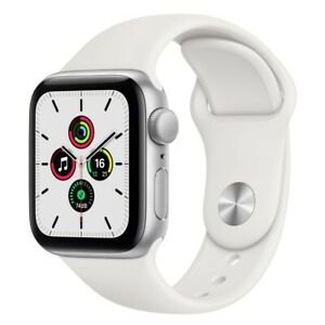 Apple Watch SE GPS  MYDM2  40mm - Silver Aluminum White Sport Band USA FREESHIP