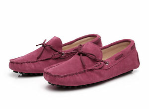 Hot US7-12 Men's Loafers Driving Moccasins casual soft suede leather penny Shoes