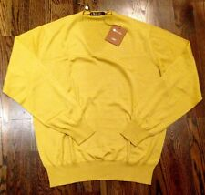1,000$ Loro Piana Yellow Cashmere sweater Size 56 or XXL Made in Italy