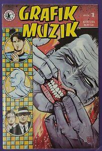 GRAFIK MUZIK #1 1st APPEARANCE of MADMAN in FULL COLOR CALIBER KEY ALLRED 1990