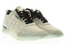 YAB sneakers scarpe basse uomo grige pelle e tessuto tecnico n° 44