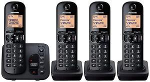 Panasonic Telephone KX-TGC224 Quad with Answering Machine & Call Block NEW