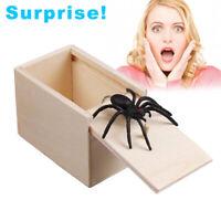 Wooden Prank Spider Scare Box - Surprise Joke Horror Prank Toys Halloween Gift N