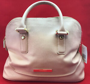 Ivanka Trump Handbag Purse Pink Faux Leather Doctor Bag