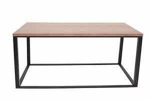 Bristol Coffee Table Modern Rectangular Walnut Top Black Base Living Room