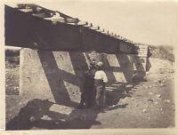 Grecia Construction Un Pont Macedonia Grande Guerre WW1 Anteriore Da Salonique
