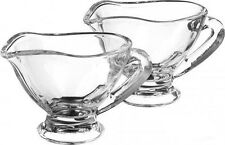 2 X Mini Glass Sauce Boats Jugs Serving 60ml Set Of 2 Dessert Tabletop Pasabahce