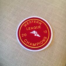 "Varsity Chenille Western League Champions 2012 Patch 5"" diameter"