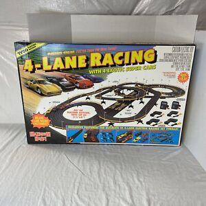 Tyco Maximum Heat Electric 4 Lane Racing Track w/Cars