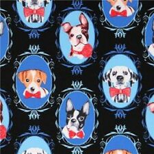 Fat Quarter Dogs Cameo Dog Dalmation French Bulldog 100% Cotton Quilting Fabric